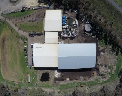 aerial shot shed